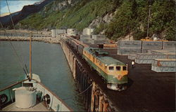 White Pass & Yukon Passenger Train on Skagway Dock