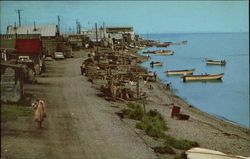 Main Street of Eskimo Village on the Banks of Kotzebue Sound