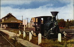 View of Railroad Station and Engine