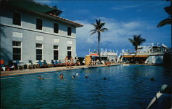 The Sun and Surf Club Pool , Whitehall Postcard