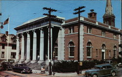 Street View of US Post Office and Federal Building Postcard