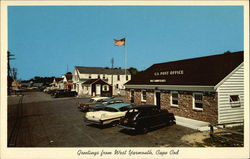 Post Office and Great Island Shopping Center Postcard