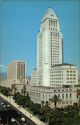 City Hall, US Post Office, and Federal Building in the Civic Center Postcard