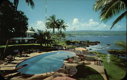 Naniloa Hotel Pool Terrace and Hilo Bay