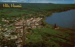 Aerial View of of Hilo Bay and City