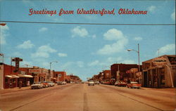 Main Street, greetings from Weatherford