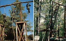 Two Views of the Confidence Course at the US Army Training Center