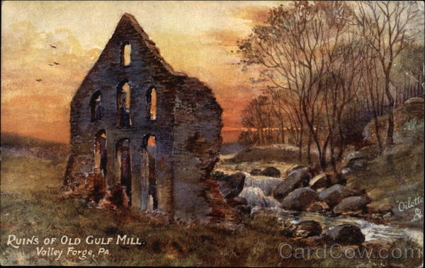 Ruins of Old Gulf Mill Valley Forge Pennsylvania