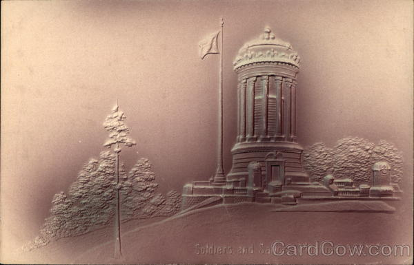 Soldiers and Sailors Monument New York City Airbrushed