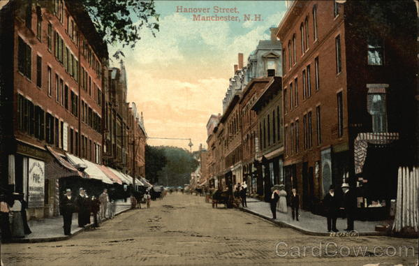 View of Hanover Street Manchester New Hampshire