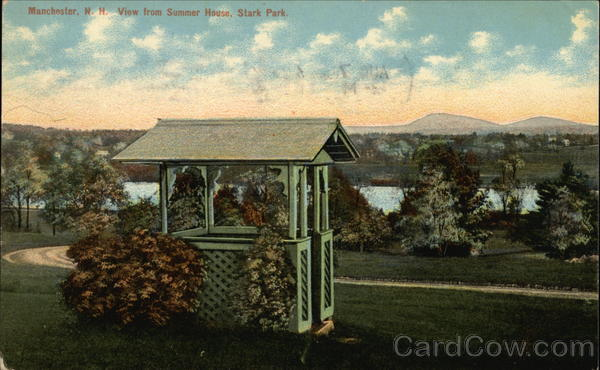 View From Summer House, Stark Park Manchester New Hampshire