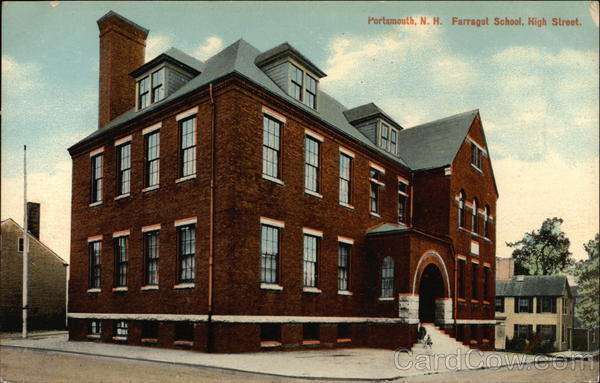 Farragut School on High Street Portsmouth New Hampshire