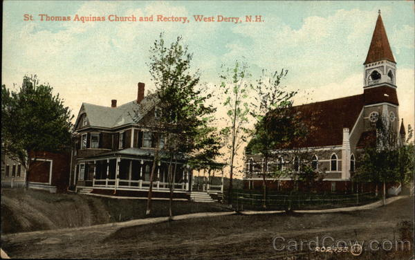 St. Thomas Aquinas Church and Rectory West Derry New Hampshire