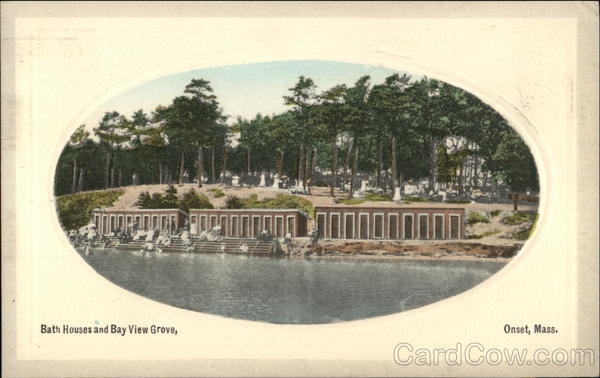 Bath Houses and Bay View Grove Onset Massachusetts
