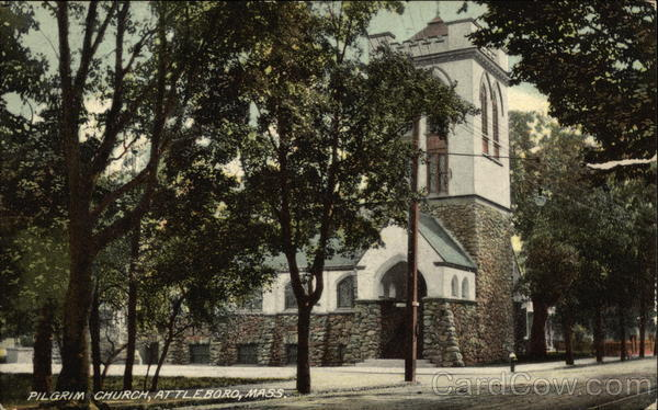 Street View of Pilgrim Church Attleboro Massachusetts