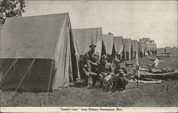 Hospital Corps - Camp Whitney Framingham Massachusetts