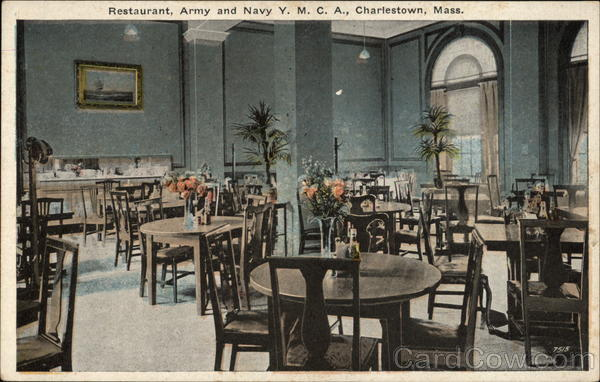 Restaurant, Army and Navy Y. M. C. A Charlestown Massachusetts