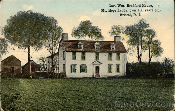 Governor william bradford house mt hope lands over 100 for Classic house bristol