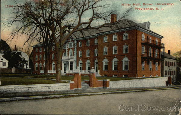 Miller Hall at Brown University Providence Rhode Island