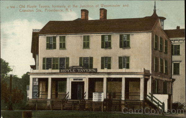 Old Hoyle Tavern - Formerly at the Junction of Westminster & Cranston Streets Providence Rhode Island