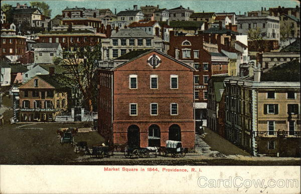 View of Market Square in 1844 Providence Rhode Island