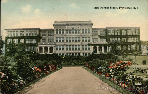View of State Normal School and Grounds Providence Rhode Island