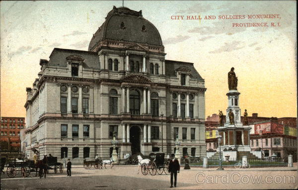 City Hall and Soldiers Monument Providence Rhode Island