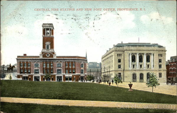 Central Fire Station and New Post Office Providence Rhode Island