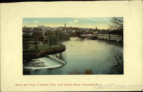 Bird's Eye View of Central Falls, from Middle Street Pawtucket Rhode Island