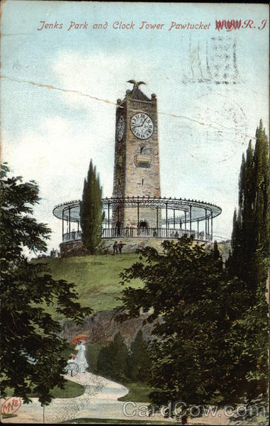 Jenks Park and Clock Tower Pawtucket Rhode Island
