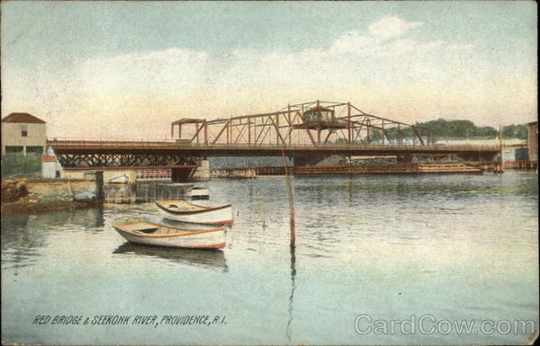 Red Bridge and Seekonk River Providence Rhode Island