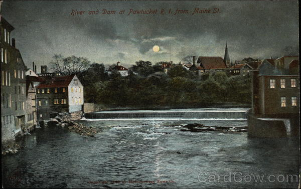 River and Dam from Main Street Pawtucket Rhode Island