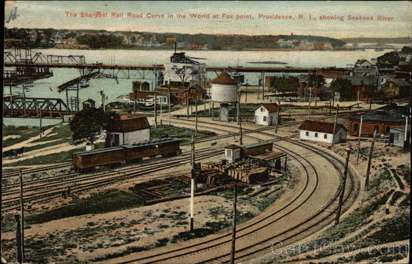 Fox Point - The Sharpest Railroad Curve in the World Providence Rhode Island