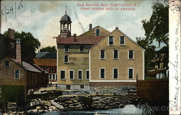 Old Slater Mill - First Cotton Mill in America Pawtucket Rhode Island