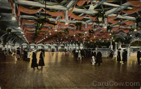 Interior of the Dance Hall, Rhodes-on-the-Pawtuxet Rhode Island
