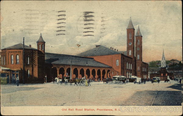 Street View of Old Rail Road Station Providence Rhode Island