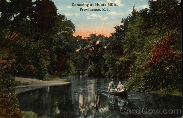 Canoeing at Hunts Mills Providence Rhode Island