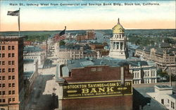 Main Street, looking West from Commercial & Savings Bank Building