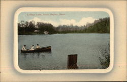 Three Women in Boat on College Lake