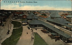 Bird's Eye View of NYNH & HRR Station