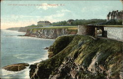 Cliff Walk showing Arch to Breakers