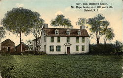 Governor William Bradford House, Mt Hope Lands, over 100 years old