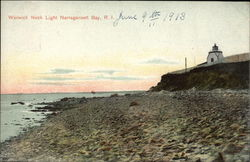 Warwick Neck Light Postcard