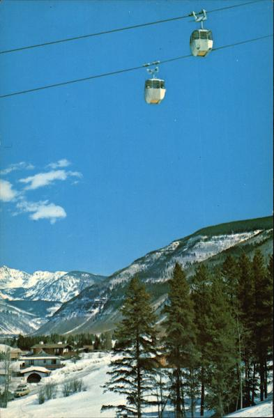 Aerial Cablecars above Vail Village Colorado