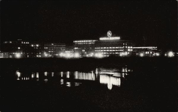 Night View of the General Electric Company's Main Plant Schenectady New York