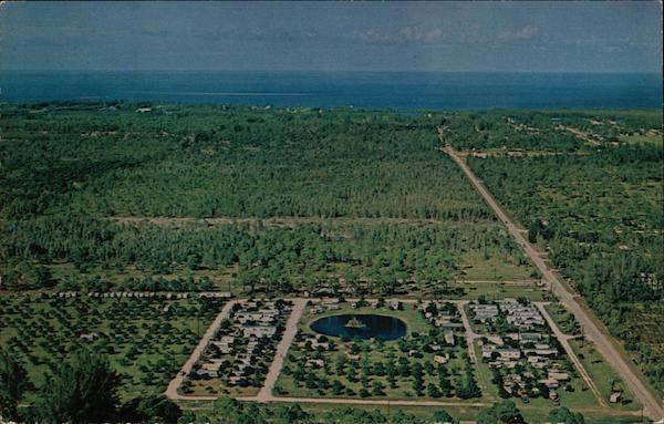 Aerial View of Pink Citrus Trailer Park and Campground Fort Myers Florida