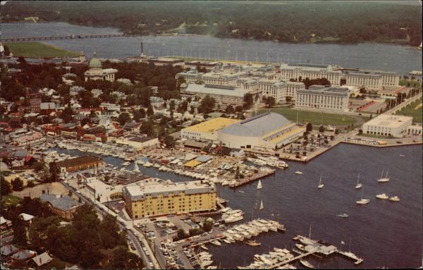 Aerial View of Waterfront Annapolis Maryland