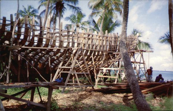 Building a Schooner, Bequia Island St. Vincent Grenadines West Indies