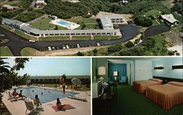 Aerial View of Chateau Motel, Also Showing Pool and Room Provincetown Massachusetts