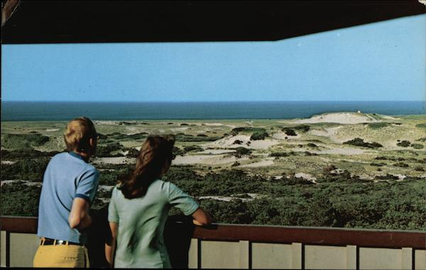 View of Dunes and Atlantic Ocean from Observation Deck Cape Cod Massachusetts